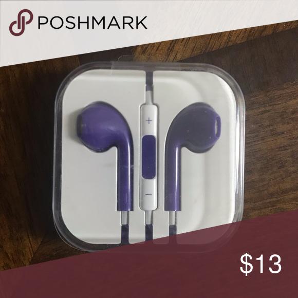 Purple Earphones New The Replica Of The Apple Earphones Iphone 6 Headphone Jack 3 5 Mm Accessories Apple Earphones Earphone Purple
