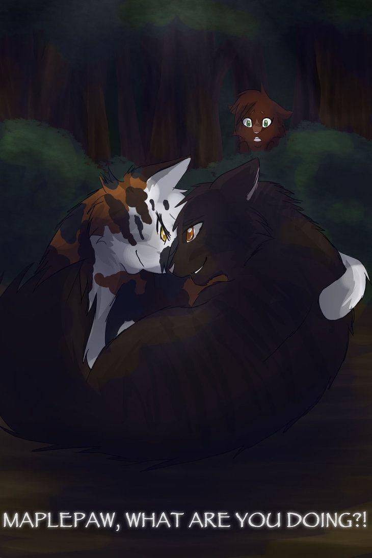 Maplepaw and Applepaw. Cat in background, frecklepaw. What