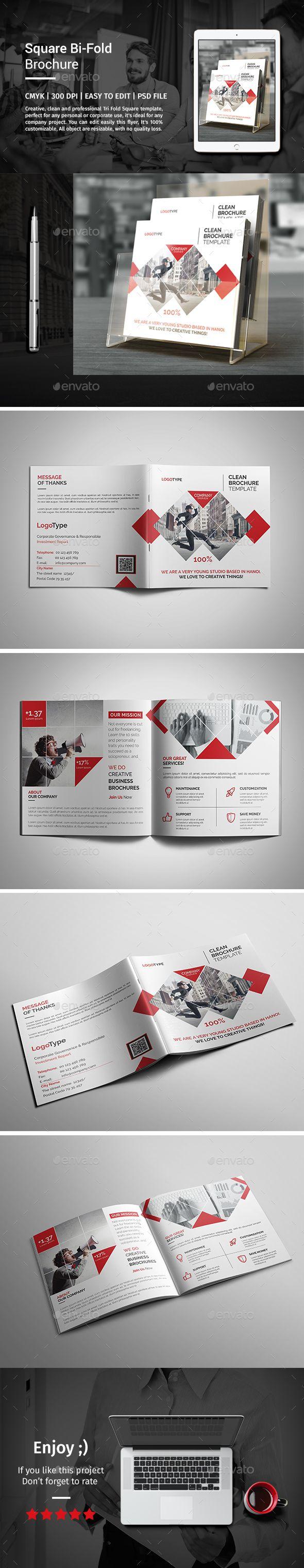 corporate bi fold square brochure 03 パンフレットのテンプレート
