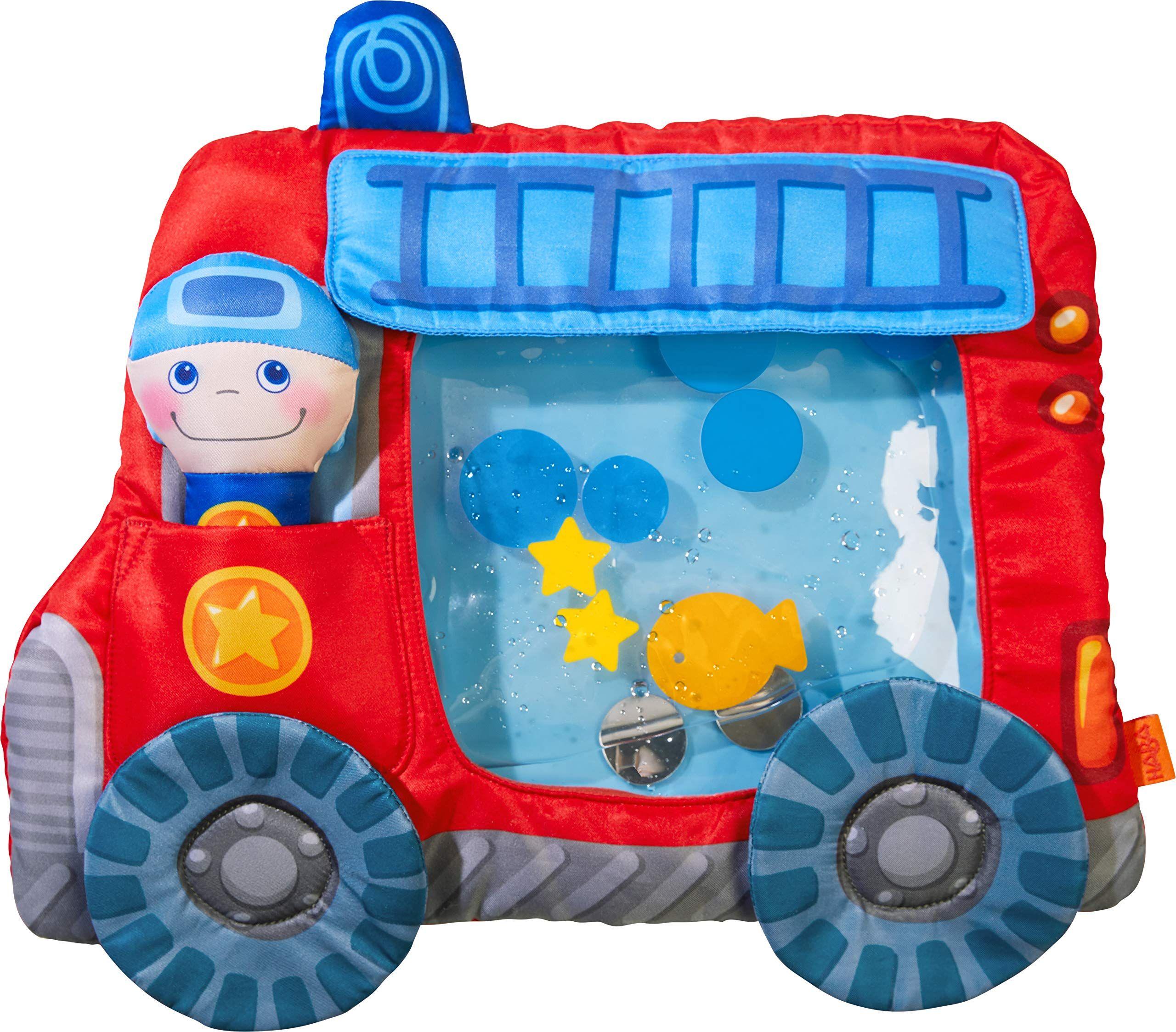 Haba 303820 Wasserspielmatte Feuerwehr Wasserbef Lltes Baby Spielzeug Mit Schwimmelementen Quietschelement Und Herausnehmbarer Figur Ab 6 Monaten Advents In 2020