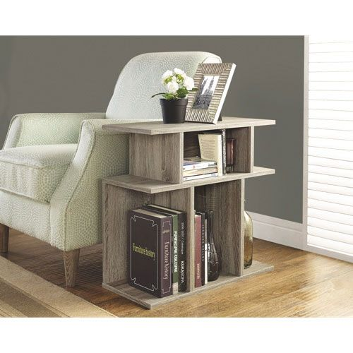 Contemporary Rectangular End Table Dark Taupe Accent Side Table Pallet Furniture Driftwood Furniture