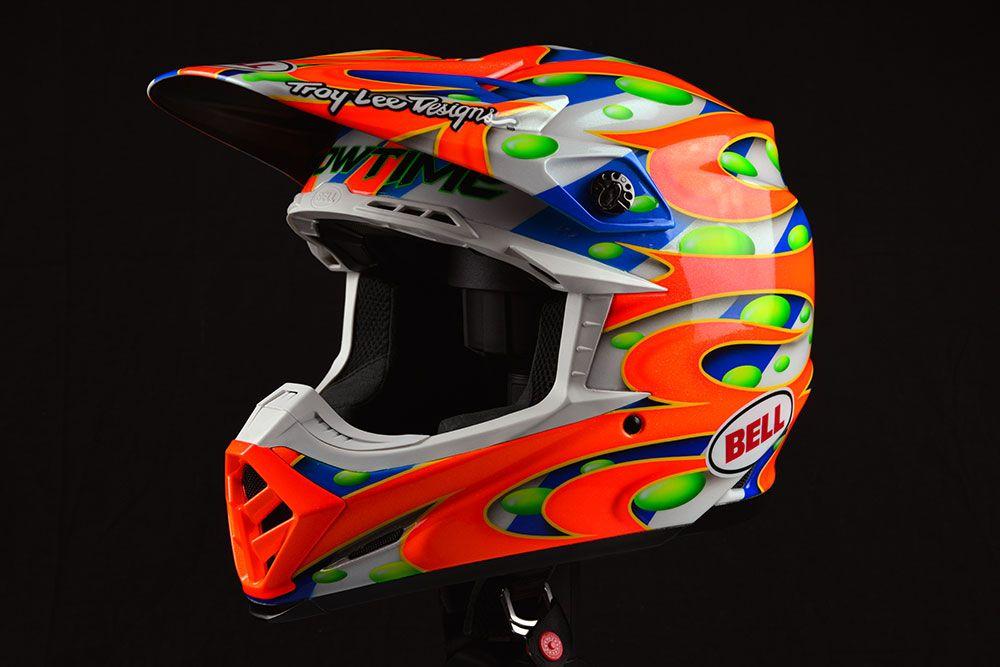 Custom Painted Helmets Jersey Lettering Troy Lee Designs
