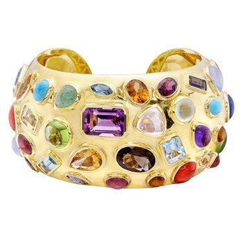 18k gold & multi-gemstone cuff // seaman schepps