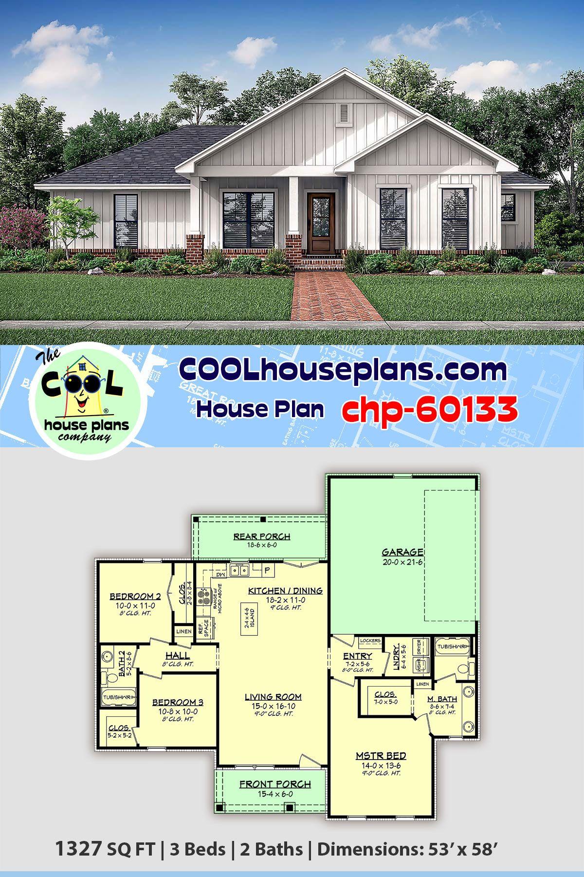 Plan 60133 Diy House Plans House Plans Farmhouse House Plans
