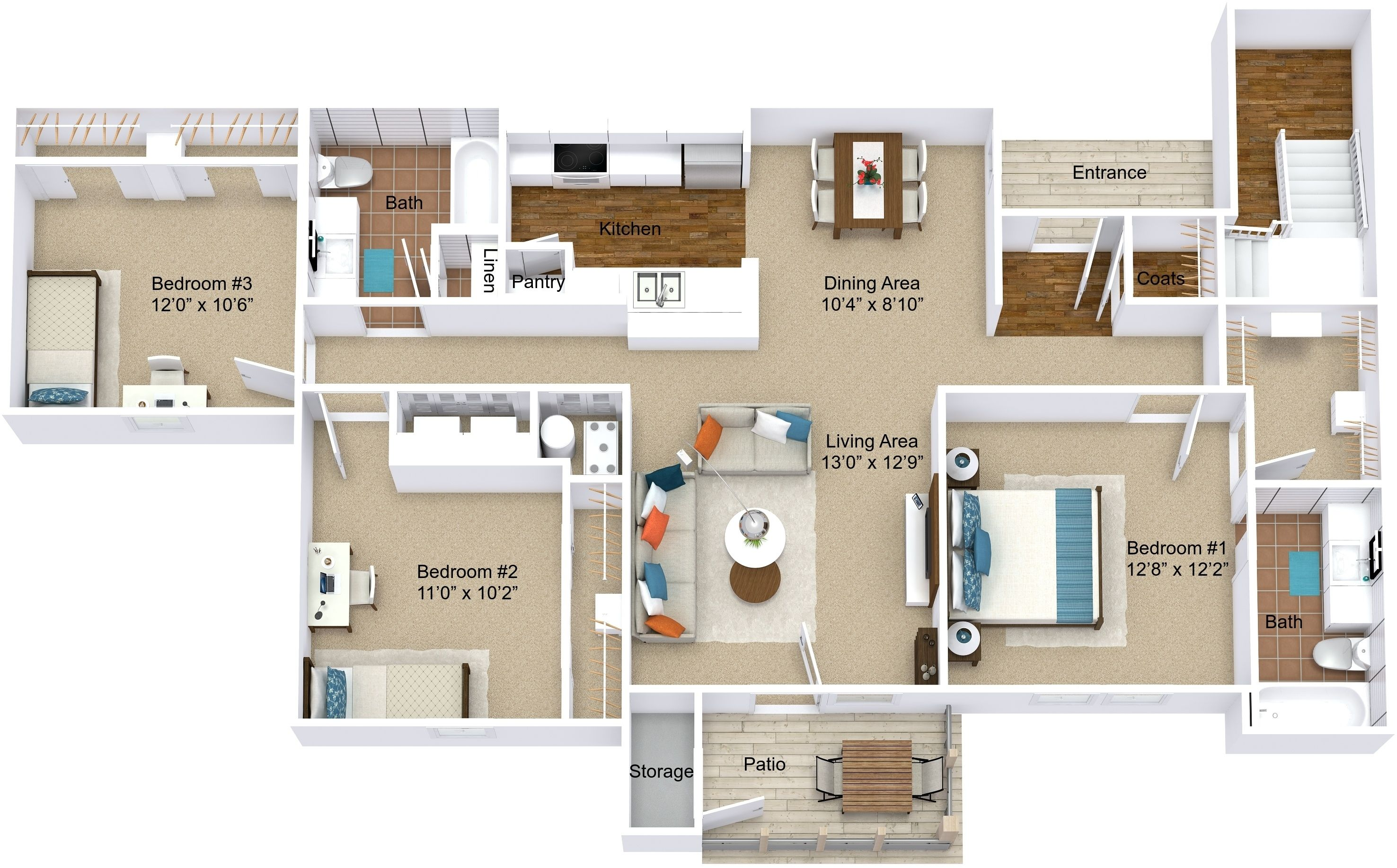 Beaver Creek Luxury Apartment Homes In Newburgh Indiana Has Immediate Availability On Their Beautiful 3 Bedroom Finding Apartments Apartment Rental Apartments