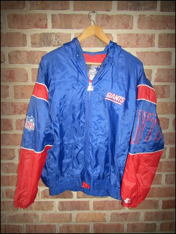 288e2b00415 Vintage 90 s New York NY Giants Starter Jacket Windbreaker - Size XL ...