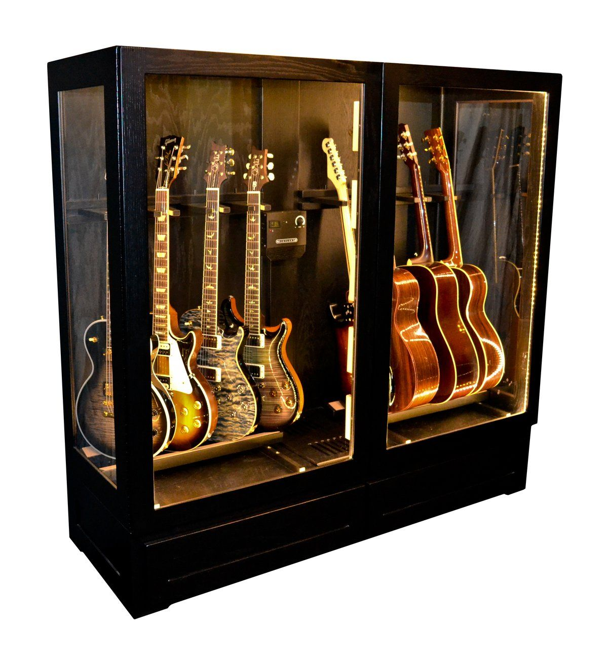 Multi Instrument Humidified Guitar Display Cabinet Guitar Display Guitar Display Case Guitar Storage Cabinet