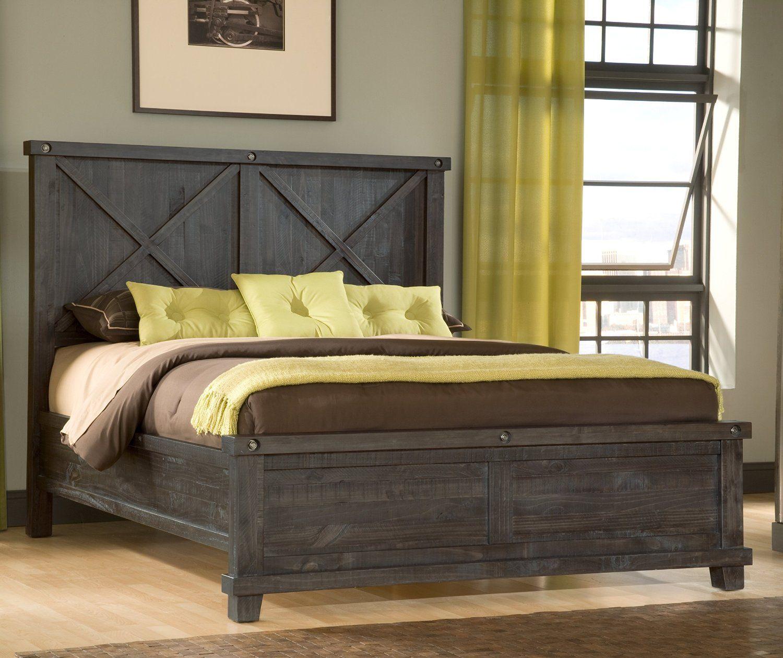 industrial bedroom wood panel