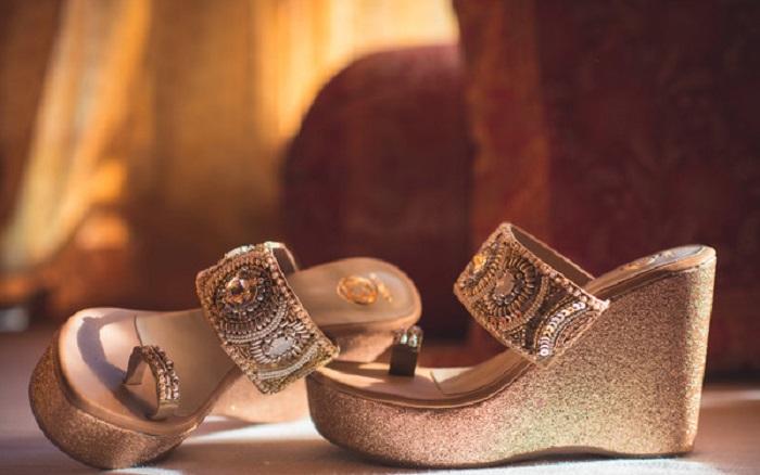 21 Bridal Footwear Ideas For Wedding Stylish High Heels Shoes For Brides Bridal Sandals Heels Wedge Wedding Shoes Bridal Sandals