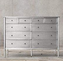 Spencer Metal 10-drawer Dresser