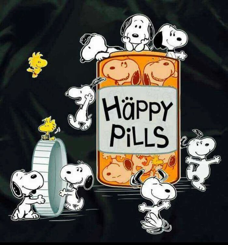 Happy Pills - Multiple Snoopys and Woodstocks Around a ...