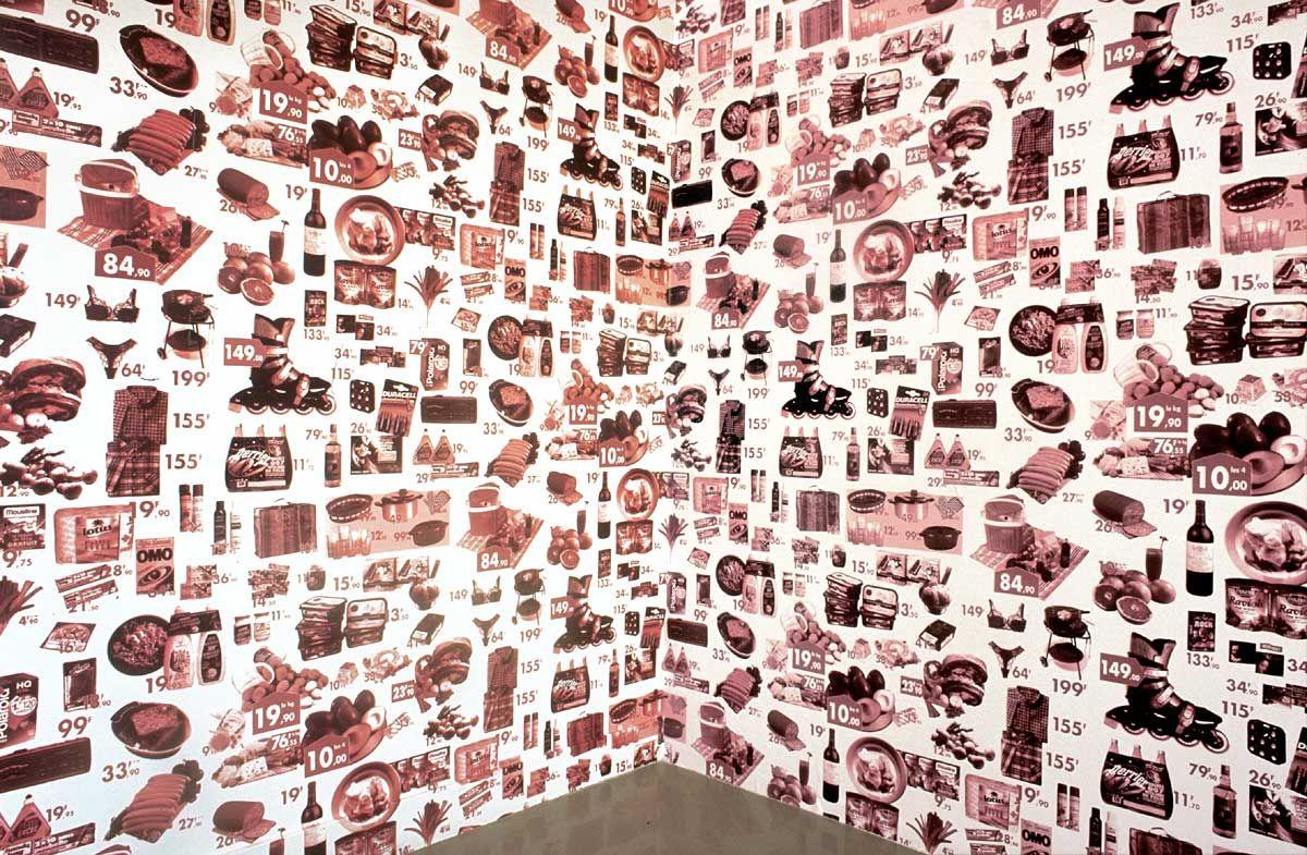 Claude Closky Papier Peint