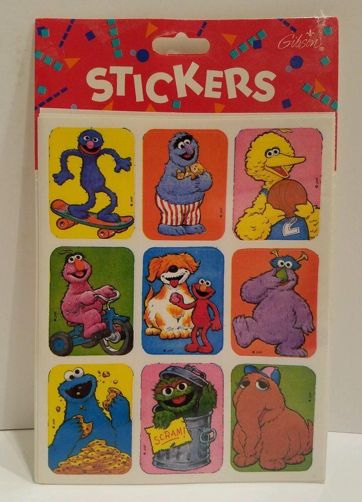 Bert Sesame Street Iphone X Wallpaper Sesame Street Stickers Gibson 1992 Elmo Big Bird Oscar