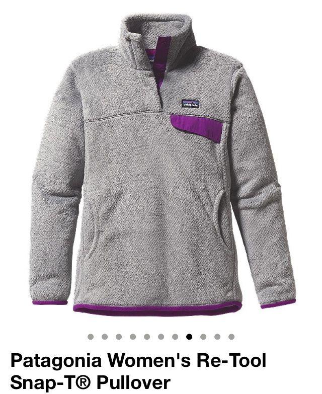 Soooo Cute Love The Gray And Purple Contrast Patagonia