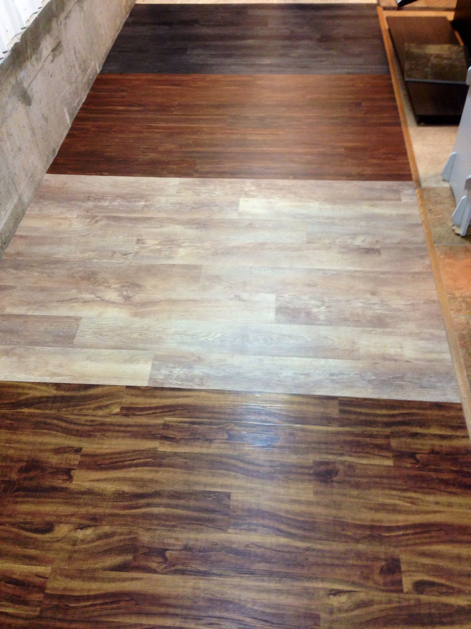 Wood Flooring Plank Vct That Looks Like Hardwood Now Installed In The Downstairs Metro Showroom For You To