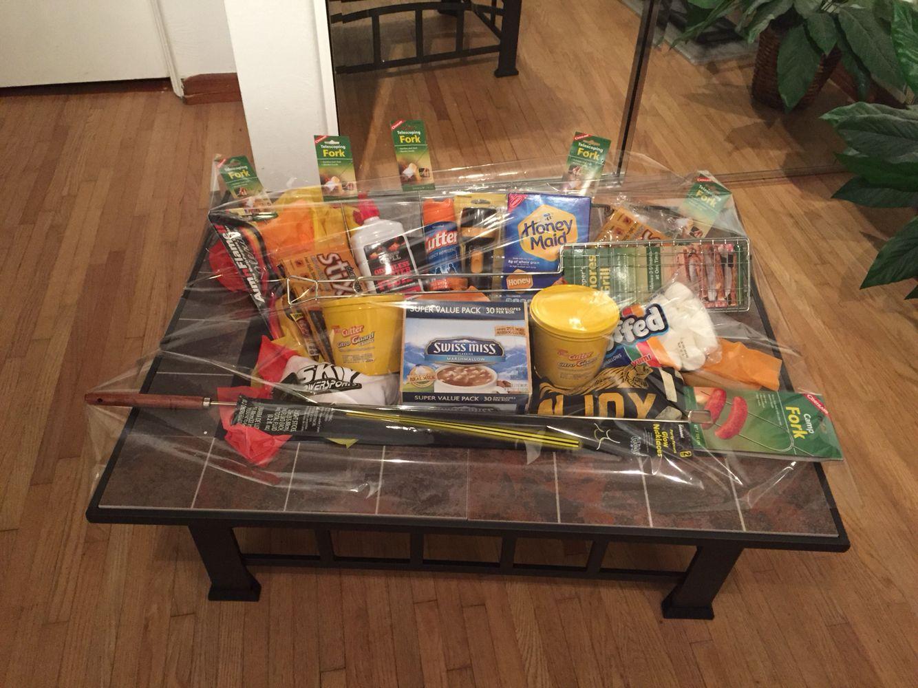 Raffle Basket Fire Pit Homemade Fundraiser Baskets Diy Gift