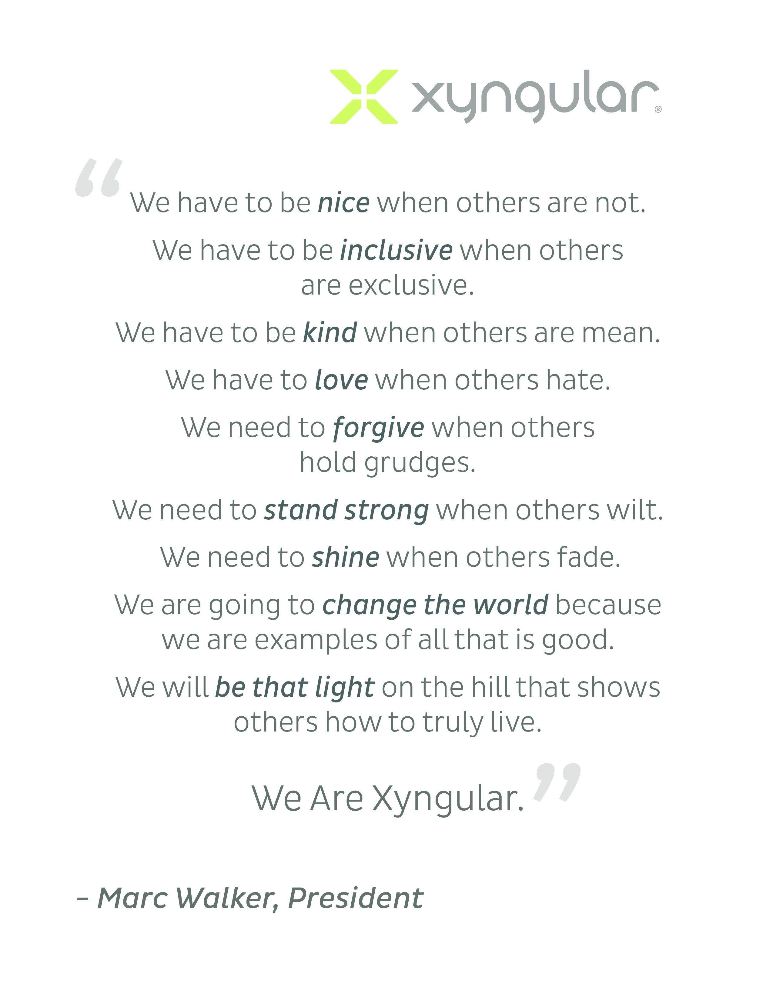 We Are Xyngular Marc Walker President  Xyngular Logos And