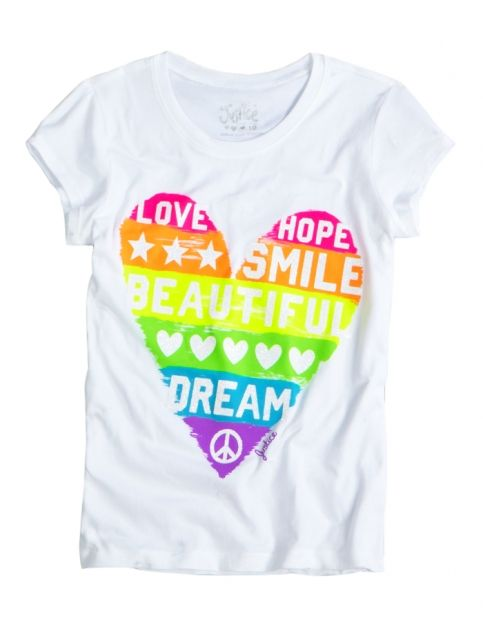 b91f98821 Heart Graphic Tee | Girls Graphic Tees Clothes | Shop Justice ...