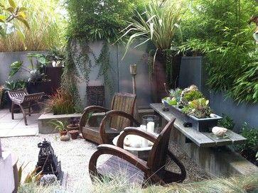 Modern Tropical Courtyard Tropical Landscape Vancouver Glenna Partridge Garde Backyard Landscaping Designs Rustic Garden Furniture Tropical Landscaping