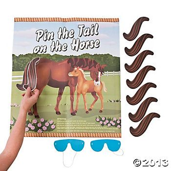 Pin the Tail on the Horse Party Game | Oriental Trading