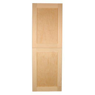 Wg Wood Products Shaker Style 2 Door Frameless Recessed Bathroom Medicine Cabinet Fr