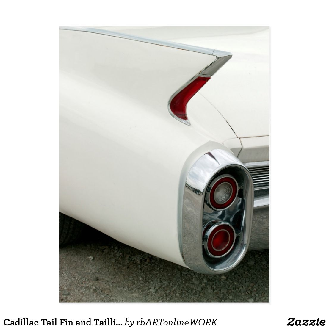 Cadillac Tail Fin and Taillights Postcard | Zazzle.com