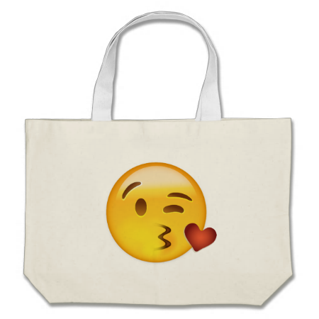 Face Throwing A Kiss Emoji Tote Bag