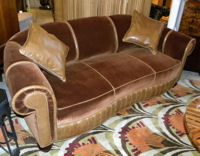 yes please! Glamorous Art Deco Sofa & Chair suite (very sweet)