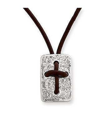 Leather cross shield necklace james avery great gifts for people leather cross shield necklace aloadofball Gallery