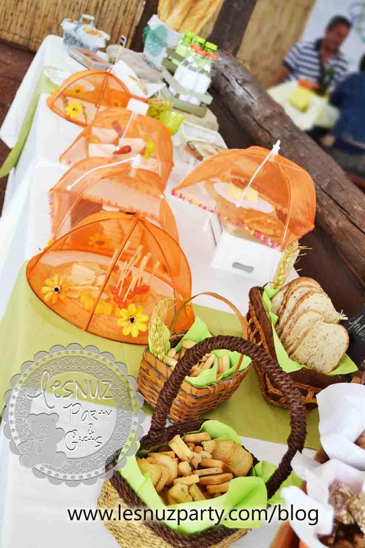 Mesa de quesos al aire libre - Cheese table open air