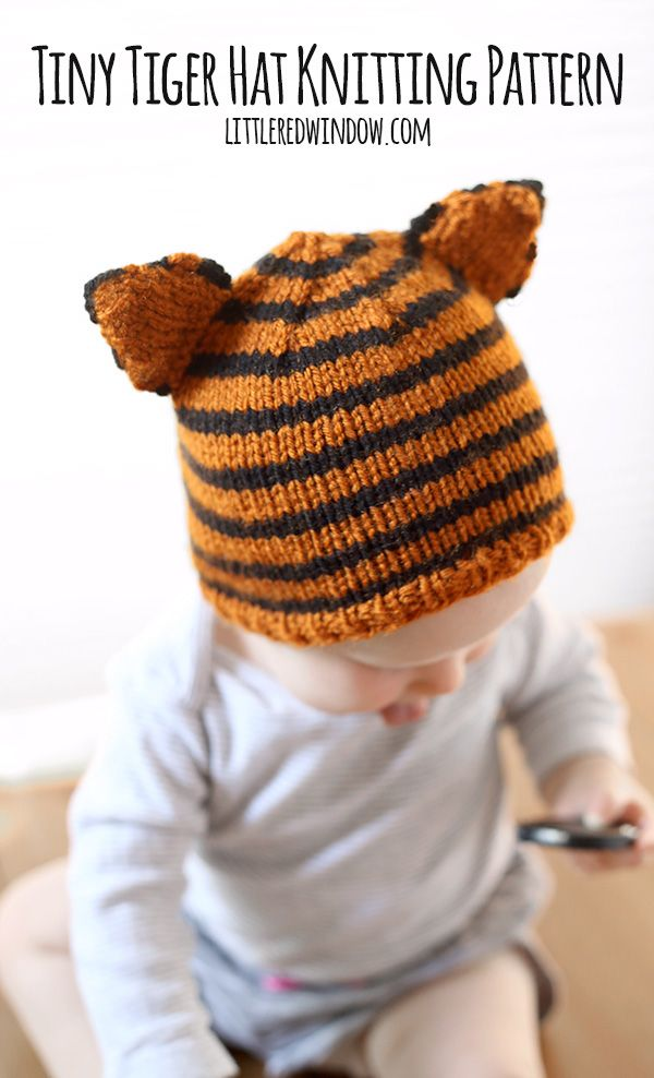 334ce9ba34e Tiny Tiger Hat Free Knitting Pattern for Babies!