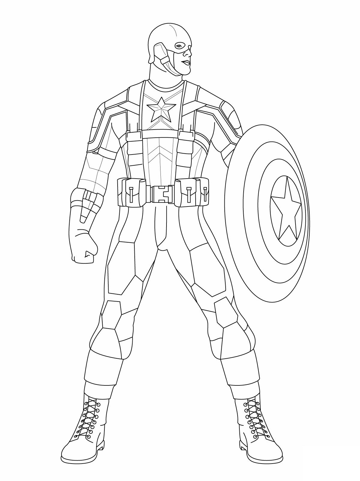Superhero Coloring Pages Captain America #33 - http://coloringonweb ...