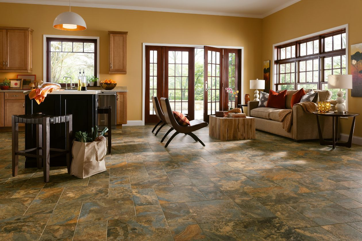 Learn More About Armstrong Allegheny Slate Copper Mountain And Order A Sample Or Find A Flooring Luxury Vinyl Tile Luxury Vinyl Tile Flooring Vinyl Flooring
