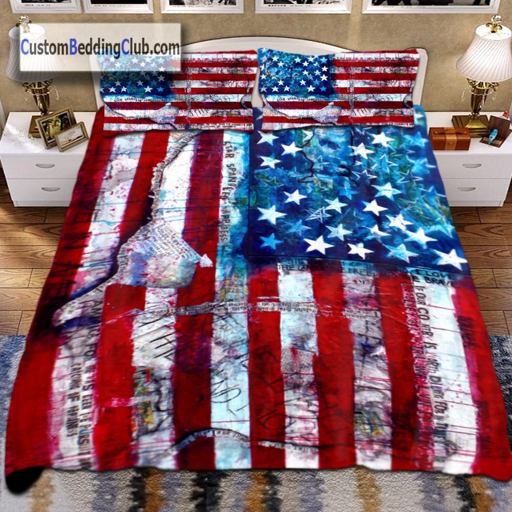 Hd Printed Us Flag Bedding Set Bed Sheets Blanket For Your Bedroom Visit Our Online Store For More Usa Flag Bedding Sets Duvet Bedding Sets Cheap Bed Linen