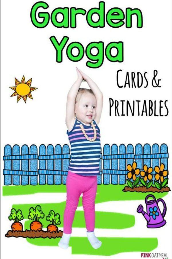 Garden Kids Yoga Cards And Printables Yoga For Kids Yoga Cards Preschool Garden