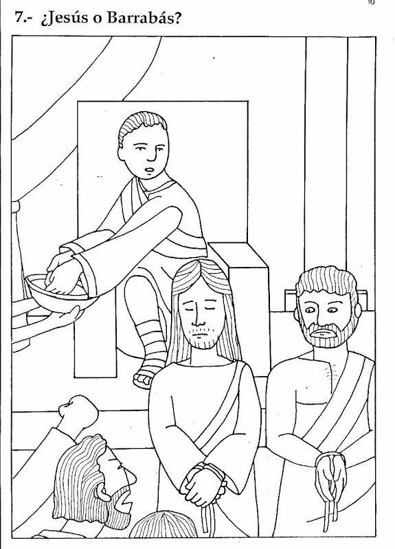 Pinto Dibujos: Jesús y Barrabás para colorear | Sunday School ...