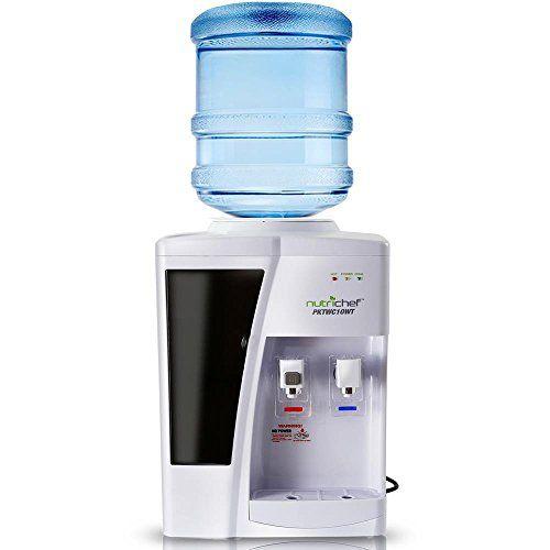Nutrichef Countertop Water Cooler Dispenser Hot Cold Water
