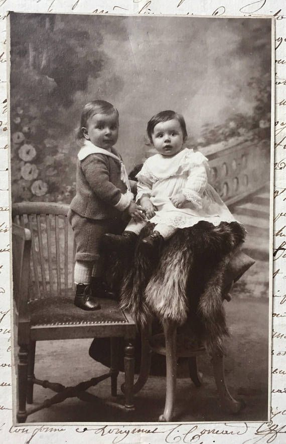 Black And White Postcard From >> Vintage Stationery Postcard With Baby And Toddler Antique Picture