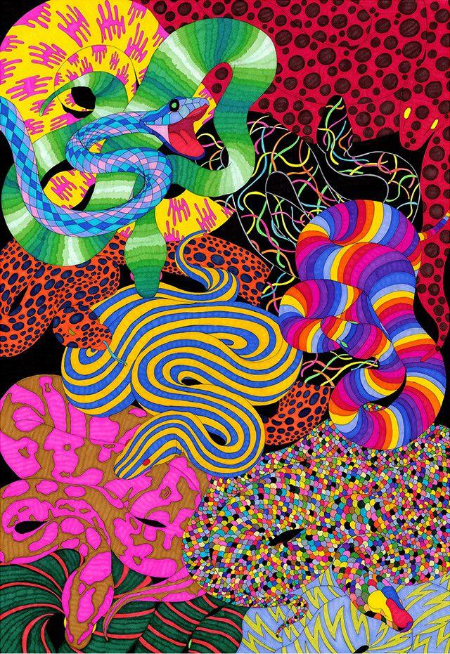 Infinite Self Psychedelic Poster Gicl\u00e9e Art Print