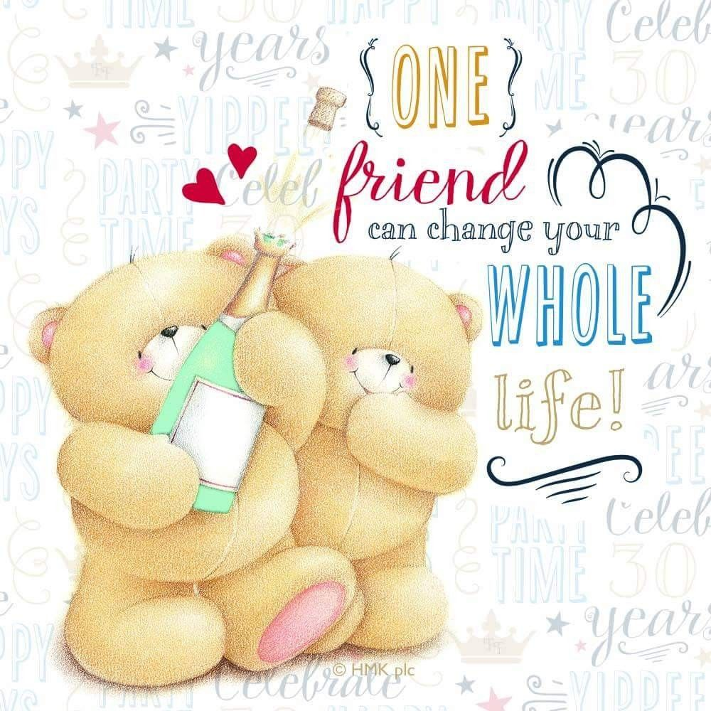 Forever friends bear, Friends forever, Friendship day