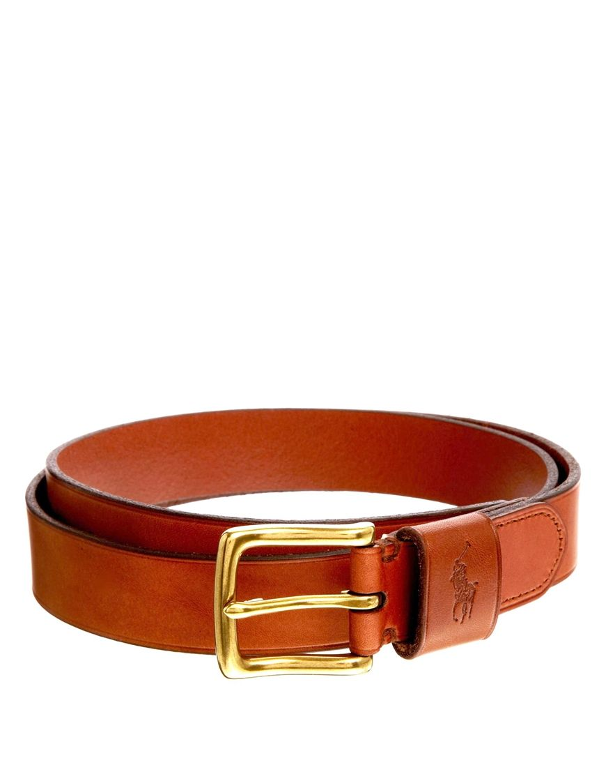 75814f69caa Polo Ralph Lauren Logo Leather Belt in Brown for Men (Tan)