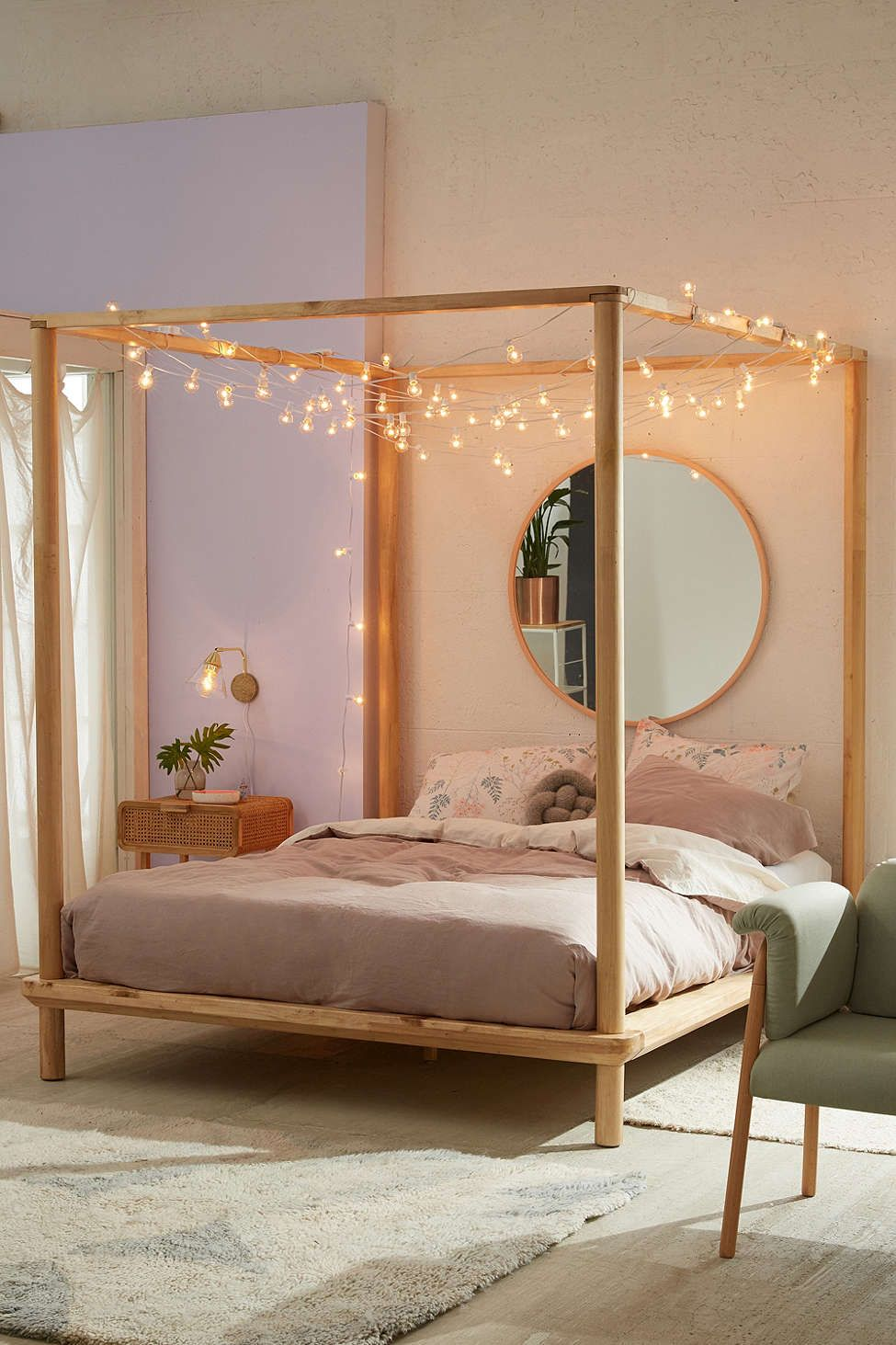 Eva Wooden Canopy Bed | Wooden canopy, Canopy and Bedrooms