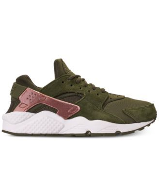 178cb5060dee5 Nike Women s Air Huarache Run Running Sneakers from Finish Line - Green 6.5