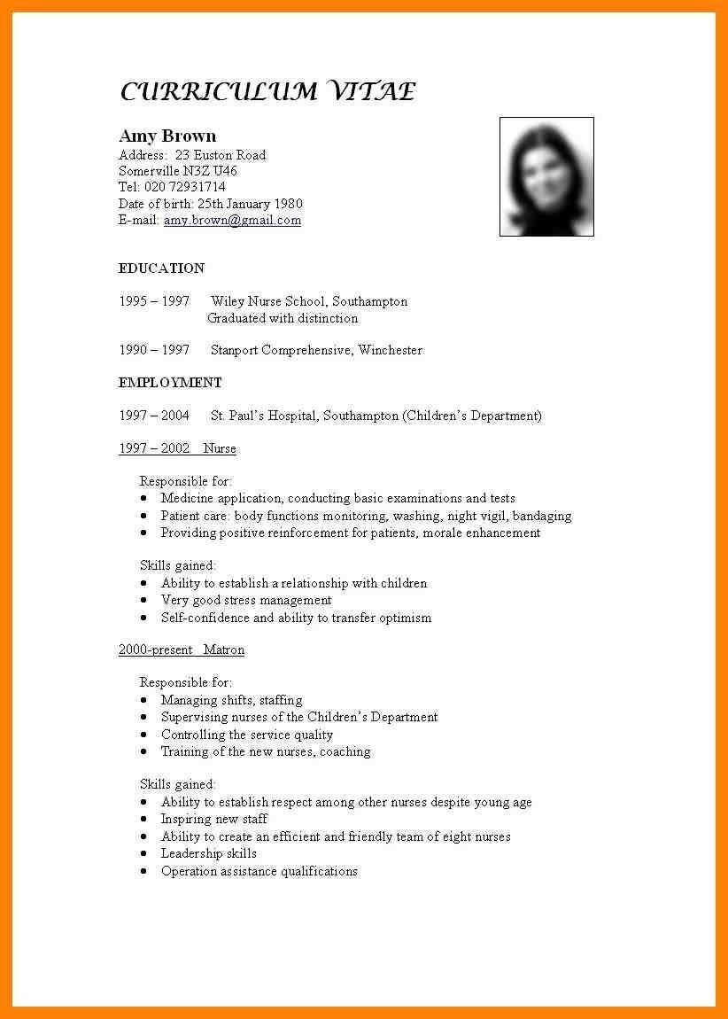 Standard Format For Cv Fieldstationco Resume Standard Format Writing A Cv Resume Writing Services Jobs For Teachers