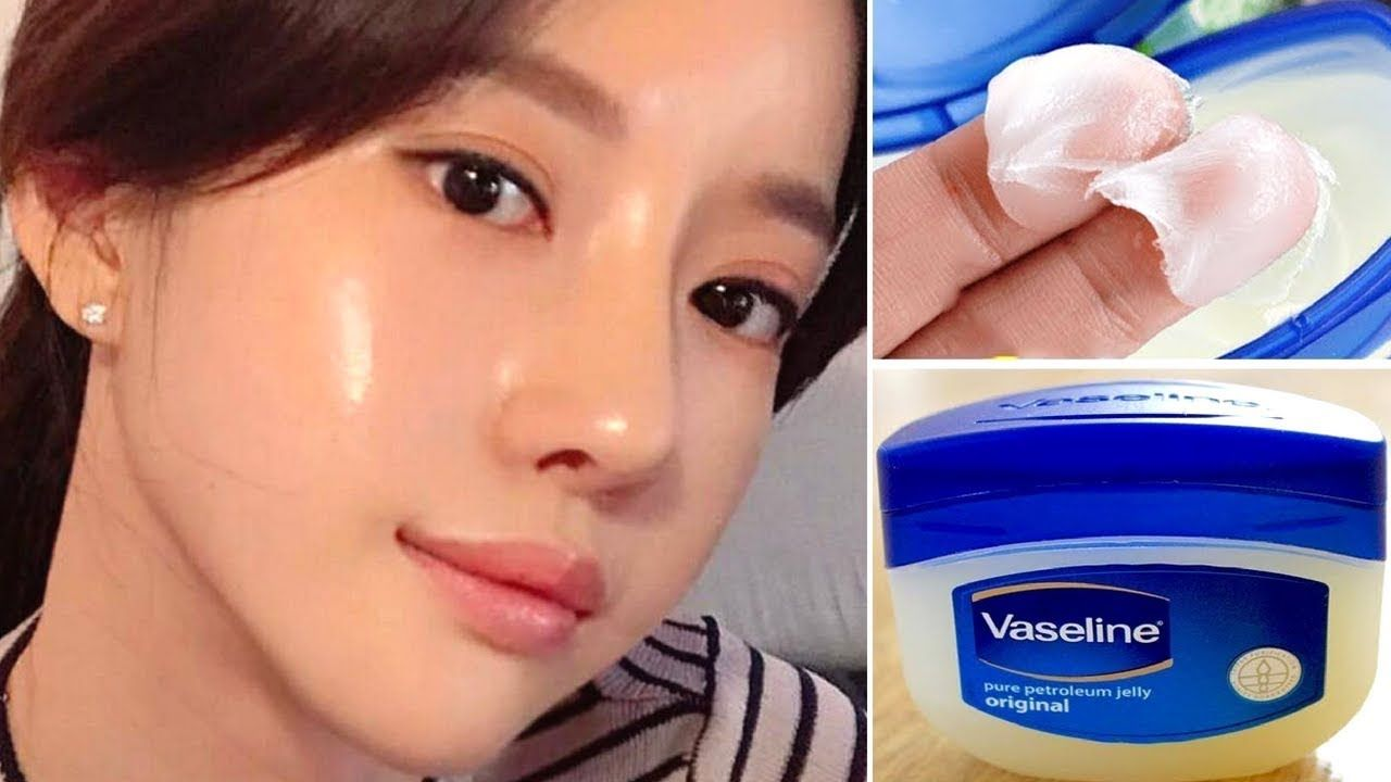 HOW TO GET GLASS SKIN USING VASELINE  VASELINE HACKS  Glass skin