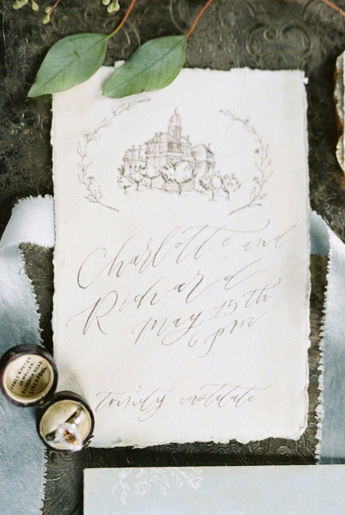 Fine Art Wedding Stationery // Old World Bridal, Featured: Magnolia ...
