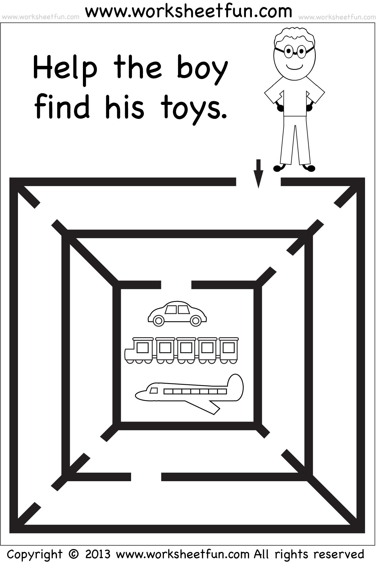 It is a photo of Intrepid Preschool Maze Printable