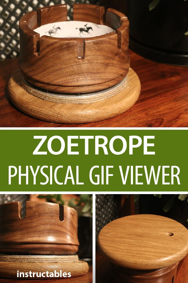 physical gif viewer (zoetrope) | woodworking | wood turning