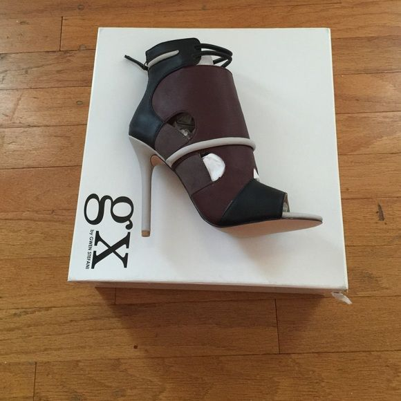 Gx by GWEN STEFFANI Brand New Heels! Never worn! Torn in between keeping and selling but willing to sell for the right offer‼️ (Grey, black, and burgundy) Gwen Steffani Shoes Ankle Boots & Booties
