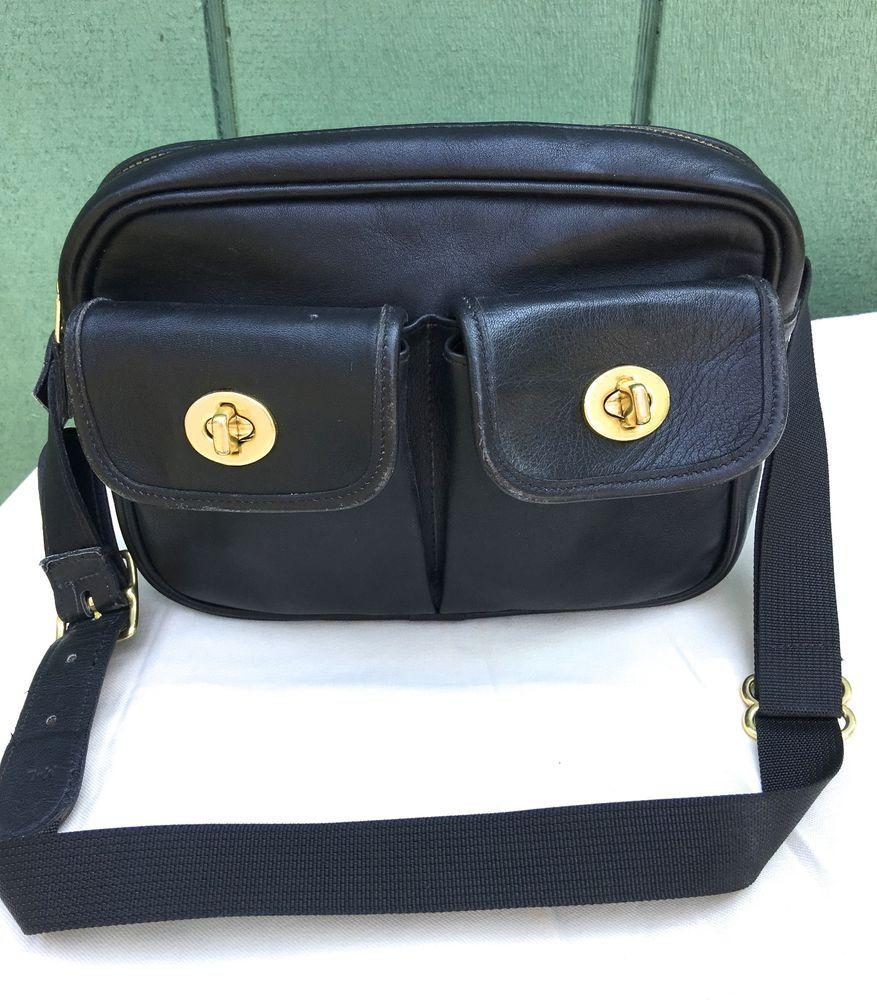 Vintage Authentic Coach Black Leather Fanny Pack Bag USA  a033e8010a4dd